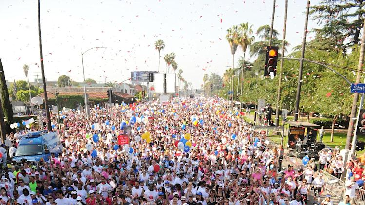 A general view during the 20th Annual EIF Revlon Run/Walk For Women held at Los Angeles Memorial Coliseum at Exposition Park on Saturday, May 11, 2013 in Los Angeles, California. (Photo by Frank Micelotta/Invision for Revlon/AP Images)