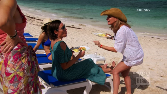 Sonja Simultaneously Freaks Out And Eats Scrambled Eggs on 'RHONY'
