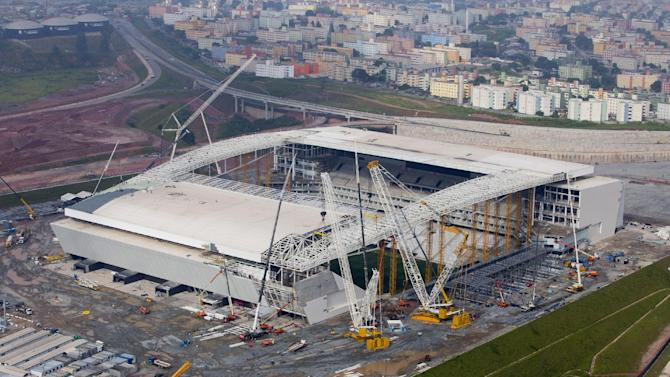 Stadium roof won't be finished for WCup opener