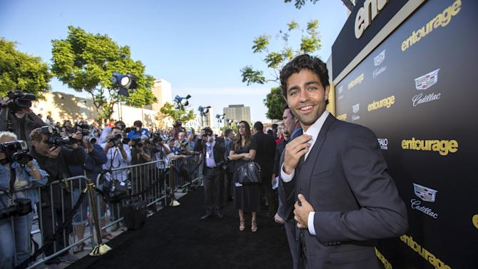 "Cast member Grenier poses at the premiere of ""Entourage"" at the Regency Village theatre in Los Angeles"