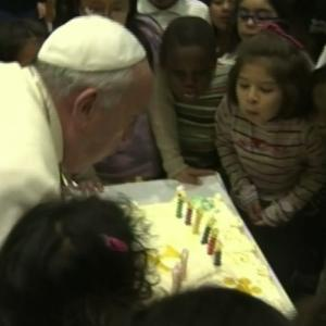 Raw: Pope Francis Celebrates 77th Birthday