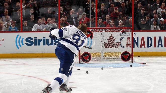 Steven Stamkos #91 Of The Tampa Bay Lightning And Team Alfredsson Takes Getty Images