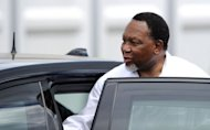 South African deputy president Kgalema Motlanthe leaves the the African National Congress meeting on December 17, 2012 in Bloemfontein. Motlanthe has challanged Jacob Zuma as ANC leader.