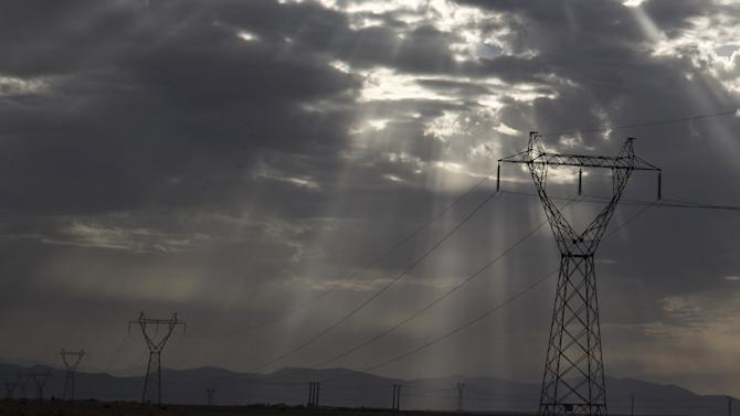 Power transmission lines are seen near Batna