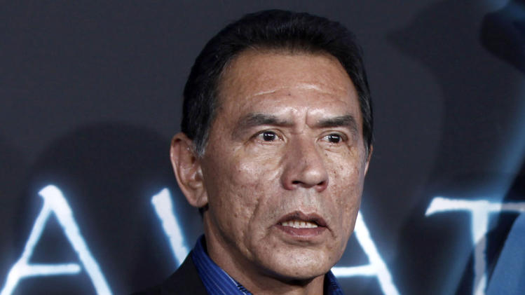 "FILE - This Dec. 16, 2009 file photo shows Wes Studi at the premiere of ""Avatar"" in Los Angeles. Studi, a well-known for his roles in ""Dances with Wolves"" and ""The Last of the Mohicans,"" has pleaded no contest to driving while intoxicated and was given a suspended 90-day jail sentence in Santa Fe. (AP Photo/Matt Sayles,File)"