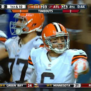 Cleveland Browns game-winning field goal drive