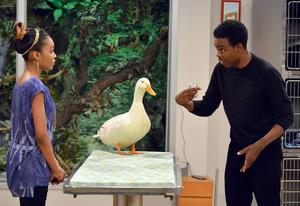 China Anne McClain and Chris Rock | Photo Credits: Eric McCandless/Disney Channel
