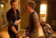 "In this film image released by Anchor Bay Films, Patrick Flueger, left, and Shawn Ashmore shown in a scene from ""Mother's Day."" (AP Photo/Anchor Bay Films, Rebecca Sandaluk)"