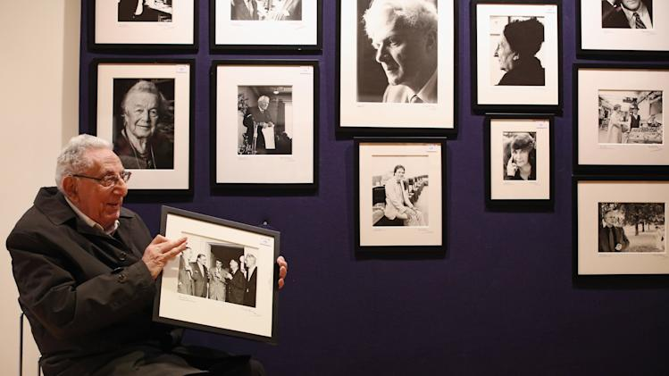 92 Year Old Photographer Mark Gerson Displays His Portraits Of Famous Writers At Bonhams
