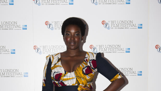 "Actress Wunmi Mosaku arrives during the BFI London Film Festival at the premiere of ""Citadel"" on Friday, Oct. 19, 2012, in London. (Photo by Ki Price/Invision/AP)"