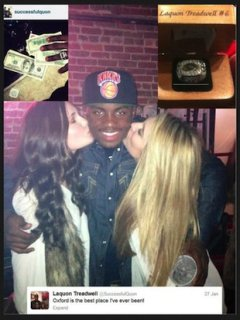 These are the photos Laquon Treadwell posted to his Twitter account -- via Chicago Tribune
