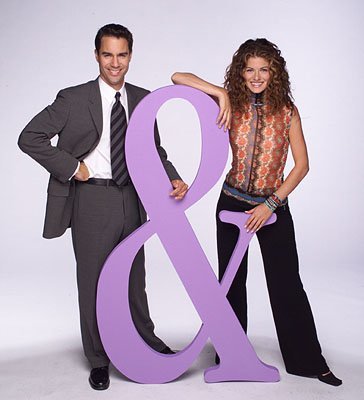 Eric McCormack and Debra Messing on NBC's Will and Grace 