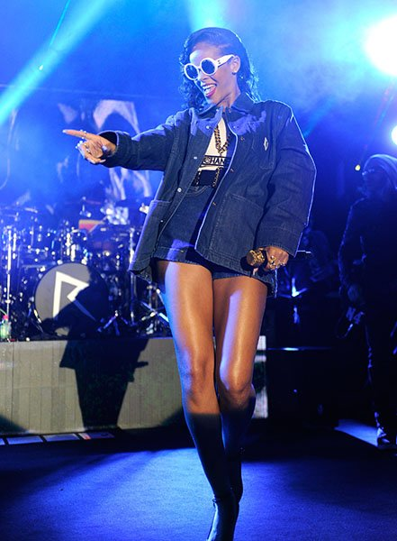 Day 3: Rihanna performing in Stockholm - Prisoner references were already abound on Day 3 of the 777 tour, as practically every single journalist on the plane blamed their captor, Rihanna, for ongoing