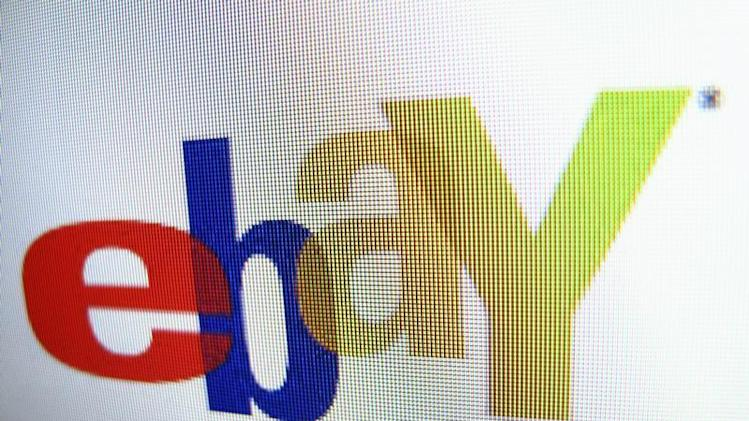 Photo illustration of an Ebay logo in Encinitas, California