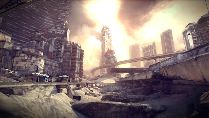 """In this video game image released by Bethesda Softworks/id Software, a scene is shown from the post-apocalyptic game """"Rage."""" (AP Photo/Bethesda Softworks/id Software)"""