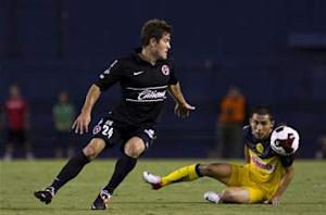 American Greg Garza scores his first goal for Tijuana in draw with Santos Laguna