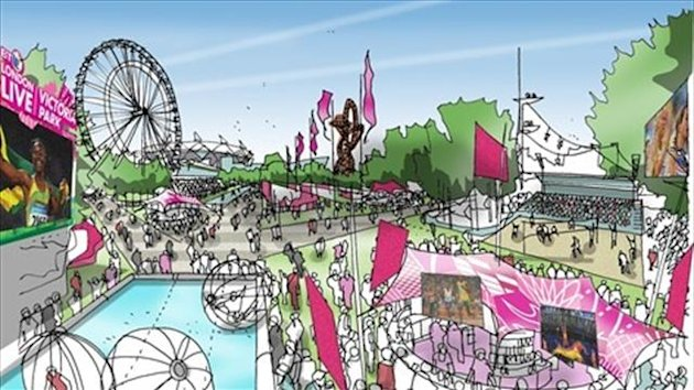 Victoria Park Live Site - image courtesy of London2012.com