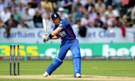 England's Ian Bell plays a shot during the fourth one-day international between England and Australia in Chester-le-Street, on July 7. England one-day captain Alastair Cook wants no let up from his side as they eye a 4-0 series win over arch-rivals Australia at Old Trafford on Tuesday