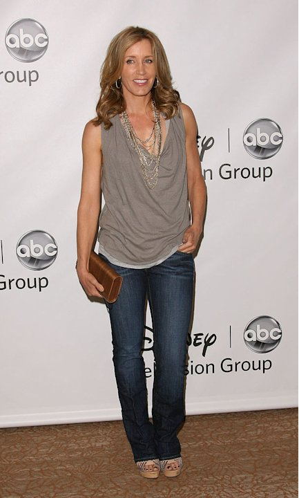 "Felicity Huffman of ""Desperate Housewives"" attends the Disney ABC Televison Group's 'TCA 2001 Summer Press Tour' at the Beverly Hilton Hotel on August 7, 2011 in Beverly Hills, California."