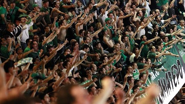 Fans of Panathinaikos Athens