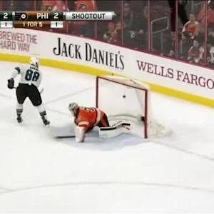 Brent Burns Goal on Steve Mason (00:00/SO)