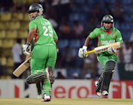 Bangladesh cricketers Tamim Iqbal (left) and Mohammad Ashraful run between wickets during the ICC Twenty20 Cricket World Cup match against Pakistan in Pallekele , Sri Lanka on September 25. Bangladesh captain Mushfiqur Rahim won the toss and opted to bat in their World Twenty20 group D match