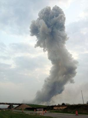 Ammonium nitrate was explosive in West plant blast
