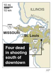 Map locates site of deadly shooting where four people were killed;