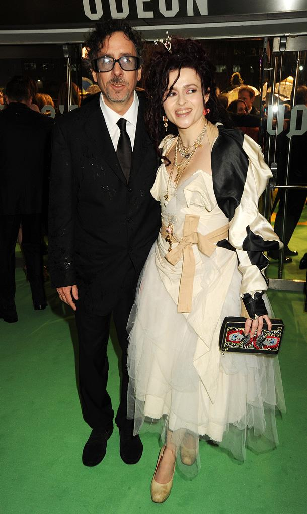 Alice in Wonderland UK Premiere 2010 Tim Burton Helena Bonham Carter