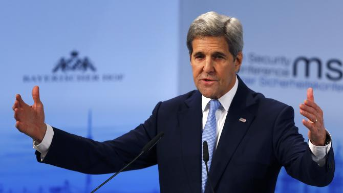 U.S. Secretary of State Kerry delivers a speech at the Munich Security Conference in Munich