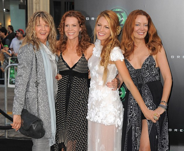 Green Lantern LA Premiere 2011 Elaine Lively Robyn Lively Blake Lively Lori Lively
