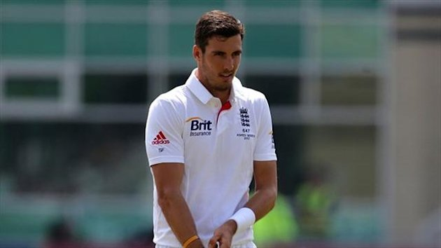 Steven Finn has become very frustrated by problems surrounding his bowling action
