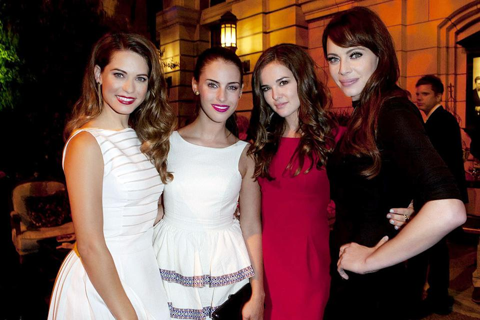 "Lyndsy Fonseca (""Nikita""), Jessica Lowndes (""90210""), Zoey Deutch (""Ringer""), and Melinda Clarke (""Nikita"") attend The CW Fall Premiere party presented by Bing at Warner Bros. Studios on September 10, 2011 in Burbank, California."