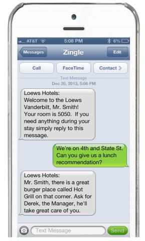 Zingle Makes Hotel Service-on-Demand a Reality for All With its New Text Message Concierge