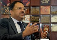 Sunny George Verghese, chief executive of Olam International, pictured during an interview with AFP in Singapore in October 2009. Top agricultural commodities supplier Olam International's share price slumped Tuesday as it rejected criticism of its financial health and accounting practices by an influential short-seller