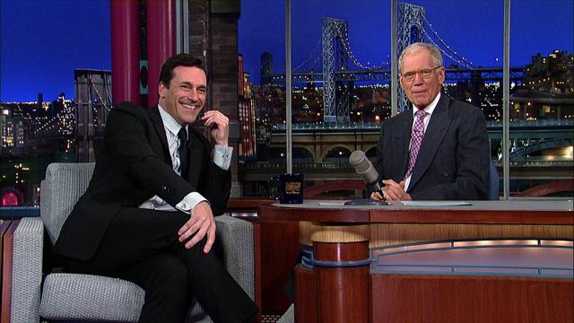 David Letterman - Jon Hamm: Mad Man or Big Baby?
