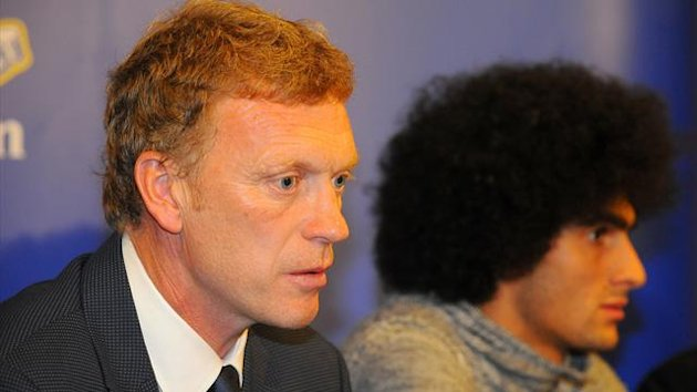 David Moyes and Marouane Fellaini