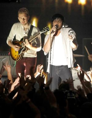 Young the Giant perform at the MTV Video Music Awards on Sunday Aug. 28, 2011, in Los Angeles. (AP Photo/Matt Sayles)