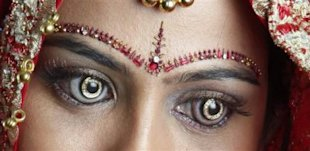 Diamond contacts courtesy of Shekhar Eye Research