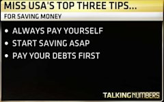 Always pay yourself, Start saving ASAP, and pay your debts first.
