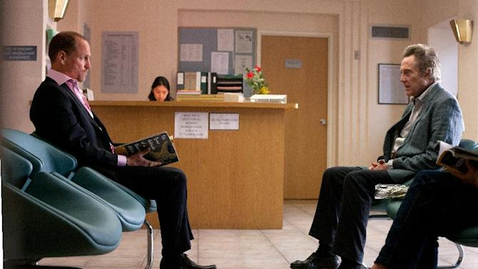 """This film image released by CBS Films shows Woody Harrelson, left, and Christopher Walken in a scene from """"Seven Psychopaths."""" (AP Photo/CBS Films, Chuck Zlotnick)"""