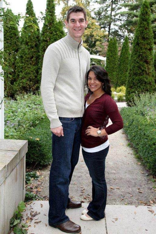 """There's just a small height difference. """"He's 6'11"""" and I'm 5'1."""" All [Andrew's] friends call me 'Dora' because I'm so small like 'Dora the Explorer,'"""" Stage told Yahoo!"""