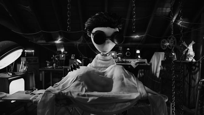 "This film image released by Disney shows Victor Frankenstein, voiced by Charlie Tahan in a scene from ""Frankenweenie."" (AP Photo/Disney)"