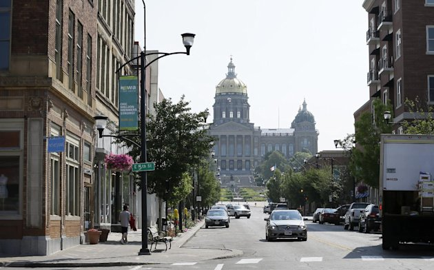 The historic East Village district in Des Moines, Iowa.  (AP Photo/Charlie Neibergall)