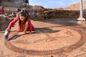 Ancient Church Mosaic With Symbol of Jesus Uncovered in Israel