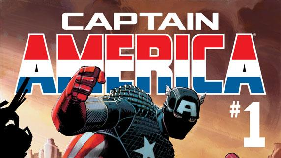 """This comic image released by Marvel Entertainment shows the cover of the upcoming """"Captain America,"""" part of Marvel Comics' new initiative aimed at recharging the publisher's heroes and villains. (AP Photo/Marvel Entertainment)"""