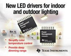 TI introduces industry-leading LED drivers for high-performance lighting