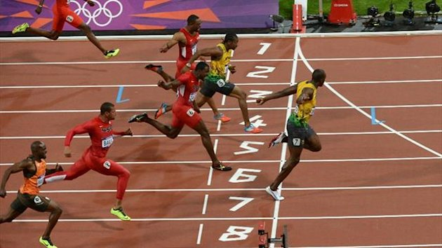 Usain Bolt, 100 meters final, London 2012