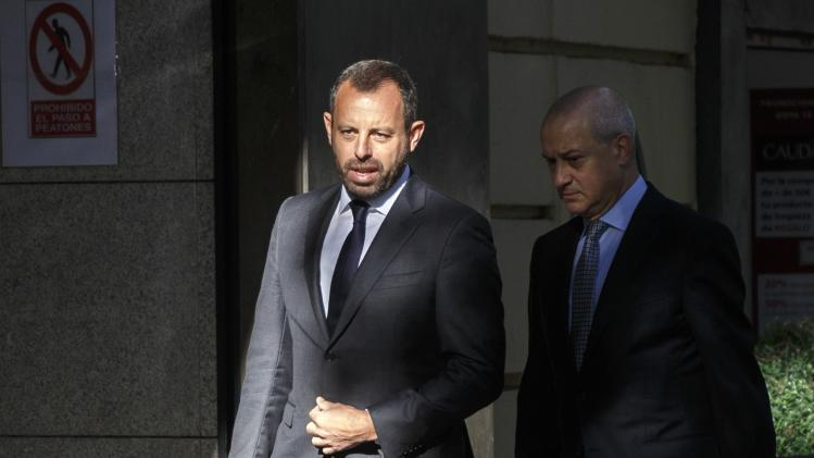 Former president of Barcelona soccer club Rosell arrives at the High Court in Madrid