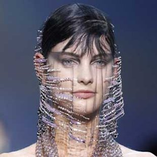 Veiled Sirens Stalk the Catwalk at Armani Couture